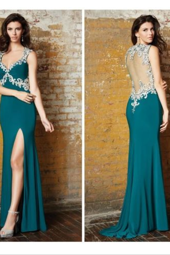 2016 New Pattern Women Fashion Chiffon Sexy Long Evening Dress