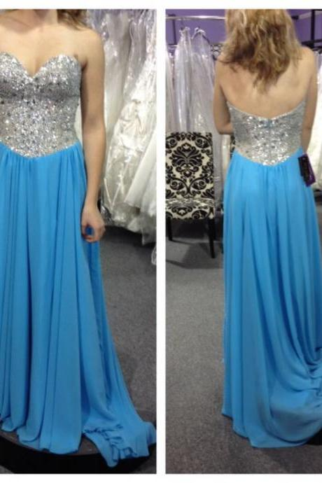 High Quality Prom Dress,A Line Prom Dress,Sequined Prom Dress,Beading Graduation Dress,Long Prom Dress,Custom Made Prom Dress,Chiffon Party Dress,Sexy Strapless Evening Dress,